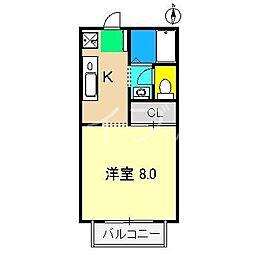 サニーメイト[1階]の間取り