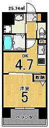 アクアプレイス京都西院[207号室]の間取り