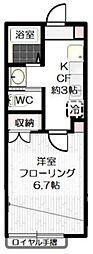 クリスタル青井I[205号室]の間取り