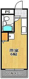 千葉県船橋市市場4丁目の賃貸マンションの間取り