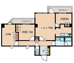 レジディア文京音羽 3階3LDKの間取り