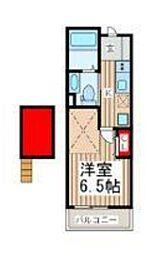 神奈川県横浜市磯子区下町の賃貸アパートの間取り