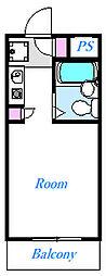 ミリオンコート西川口 2階ワンルームの間取り