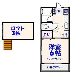 クレスト喜山V[101号室]の間取り