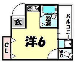 ハイムリバーサイドII[4階]の間取り