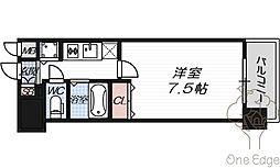 クリスタルグランツ梅田[10階]の間取り