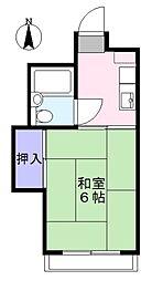 レジオンモリタ[2階]の間取り