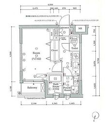 JR山手線 大崎駅 徒歩8分の賃貸マンション 1階ワンルームの間取り