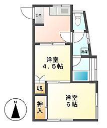 神奈川県川崎市高津区北見方2丁目の賃貸アパートの間取り