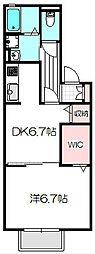 Osaka Metro谷町線 大日駅 徒歩12分の賃貸アパート 1階1DKの間取り