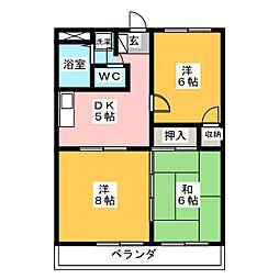シャトーK1[3階]の間取り