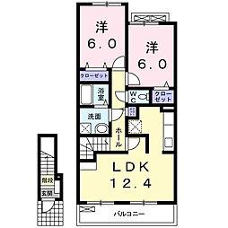 大阪府泉南市男里4丁目の賃貸アパートの間取り