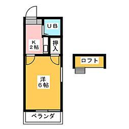 サンケン豊田本町[1階]の間取り