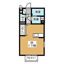 ベルテ[1階]の間取り