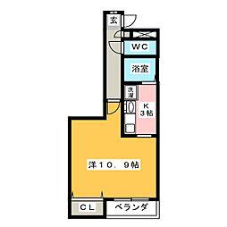 エミネンス・フローラM[1階]の間取り