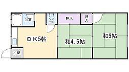 第二東和マンション[402号室]の間取り