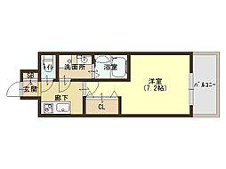 Osaka Metro中央線 緑橋駅 徒歩5分の賃貸マンション 7階1Kの間取り