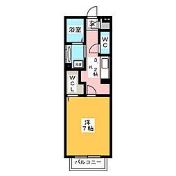 リベルテ[1階]の間取り