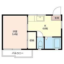 カトレアハイツII[2階]の間取り
