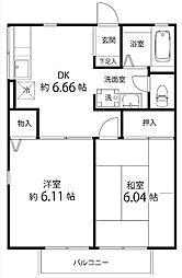 サンコート東戸塚C(サンコートヒガシトツカC)[1階]の間取り