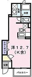 エレガンツァII[1階]の間取り
