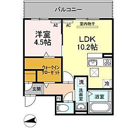 (仮)D-room刈谷市八幡町[203号室]の間取り