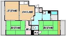 東京メトロ東西線 浦安駅 徒歩15分の賃貸アパート 3階3DKの間取り