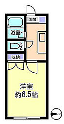セルーラ呉羽駅前[106号室]の間取り