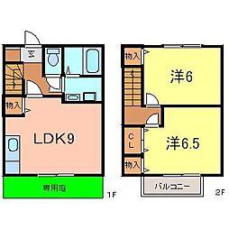 [テラスハウス] 愛知県刈谷市築地町5丁目 の賃貸【/】の間取り