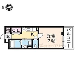京阪本線 龍谷大前深草駅 徒歩11分の賃貸アパート 3階1Kの間取り
