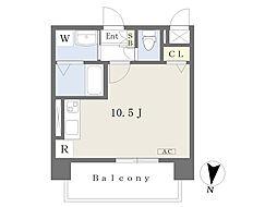 prost 8階ワンルームの間取り