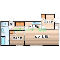 LUCY HOUSE ルーシーハウス 2階2LDKの間取り