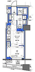 都営新宿線 小川町駅 徒歩30分の賃貸マンション 10階1DKの間取り