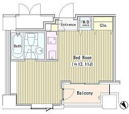 東京都新宿区四谷1丁目の賃貸マンションの間取り