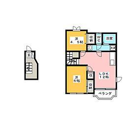 フェニックスYAGI・A[2階]の間取り