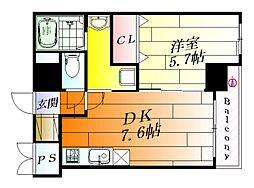 プレアデス千里山田[5階]の間取り