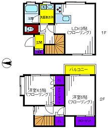 [タウンハウス] 東京都立川市柴崎町1丁目 の賃貸【/】の間取り