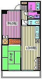 ベルジュ浦和仲町[4階]の間取り