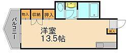 ブロッサム片江[3階]の間取り