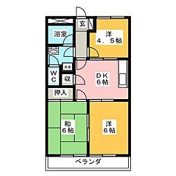 メゾンエクセル[3階]の間取り
