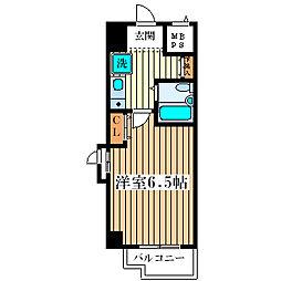 エスリード塚本第2 4階1Kの間取り
