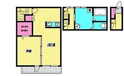 JR中央本線 三鷹駅 徒歩14分の賃貸アパート 1階1LDKの間取り