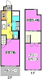 レーベンハイム志木[2階]の間取り