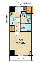 フェルクルール横浜新子安プレセダンヒルズ 9階1Kの間取り