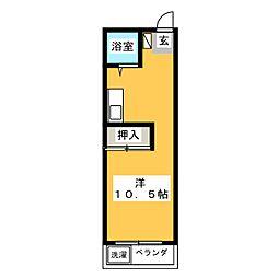 コーポ池田[3階]の間取り
