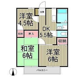 ヴィラージュ鎌倉A[2階]の間取り
