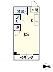 コーポリブライト[3階]の間取り