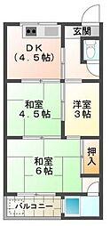 たくみマンション[2階]の間取り