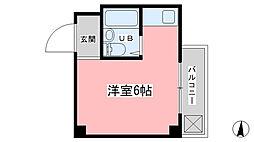 ドミール東野[205号室]の間取り