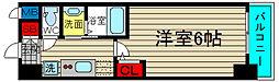 エステムコート大阪ウエスト 3階1Kの間取り